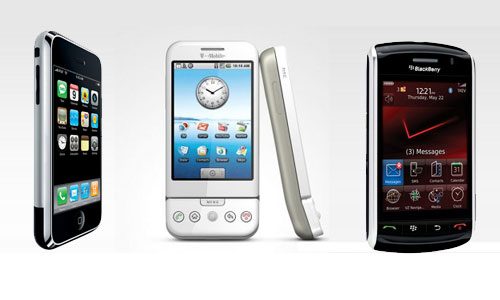 The touchscreen smartphones.