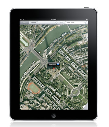 iPad maps.